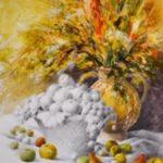 Les fruits, G. Lehuen, techniques mixtes, 58x42