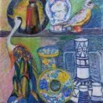 Malicorne, C. Montmory, pastel à l'huile sur papier, 50x65