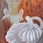 Faïences blanches sous le feu, M. Dalivoust, huile sur toile, 80x60