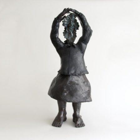 DANSEUSE FEUILLAGE,  grès émaillé,  88 x 36 x 38 cm