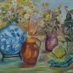Farandole, A. Olyo, acrylique, 72x60