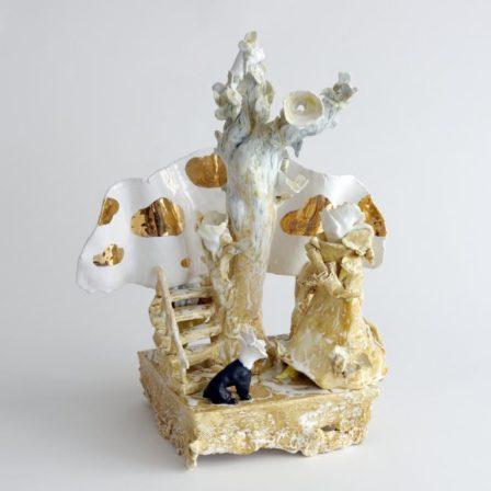APRÈS LA PLUIE ET LE BEAU TEMPS, céramique,  49 x 40 x 27 cm