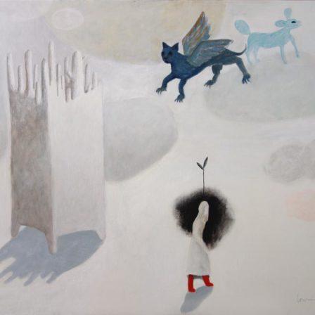 BOTTES & DRAGONS  Acrylique sur toile,  65 x 81 cm